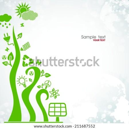 eco tree - stock vector