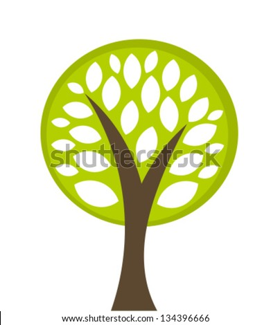 Eco tree symbol. Vector illustration - stock vector