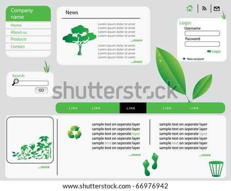 eco web design vector - stock vector