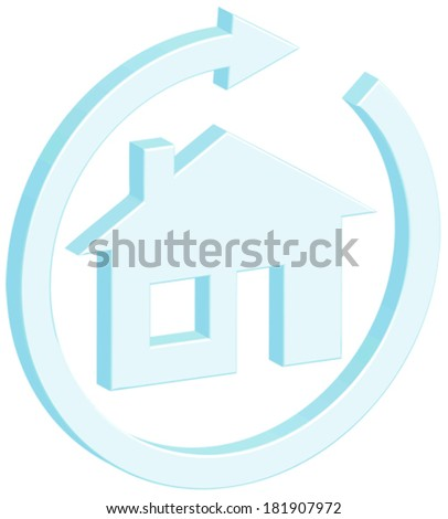 Ecohouse vector illustration icon - stock vector