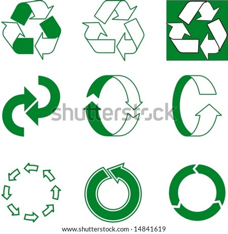 ecologic arrow for preservation of nature - stock vector