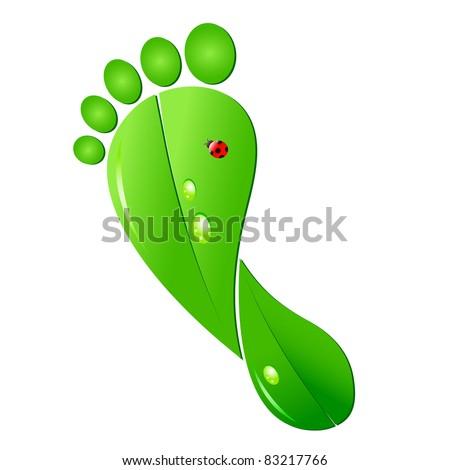 Ecologic footprint - stock vector