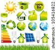 Ecological and nature icons set II. Vector collection. - stock vector