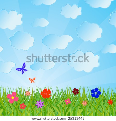 Ecological background. Vector illustration