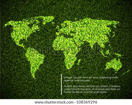 ecological concept of the green world map