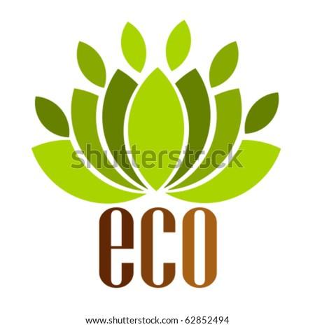Ecological emblem or logo. Vector illustration - stock vector