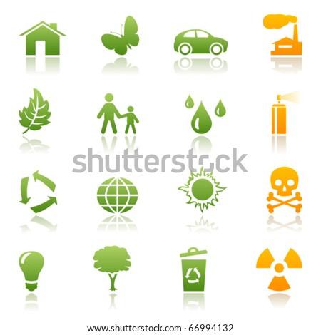 Ecological icon set - stock vector