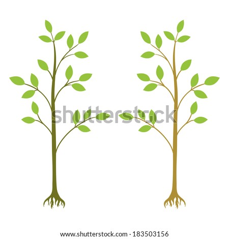 Ecological illustration on a white background - stock vector