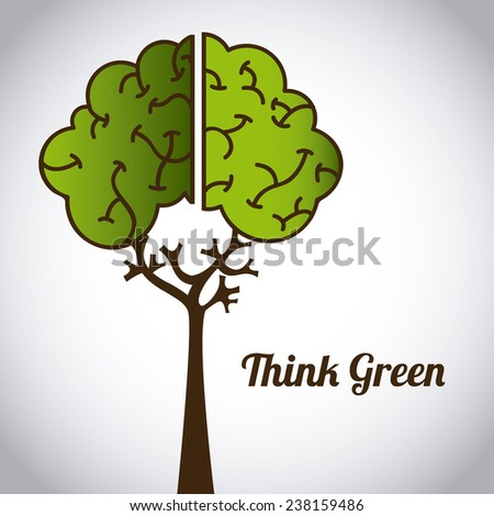 ecological mind - stock vector