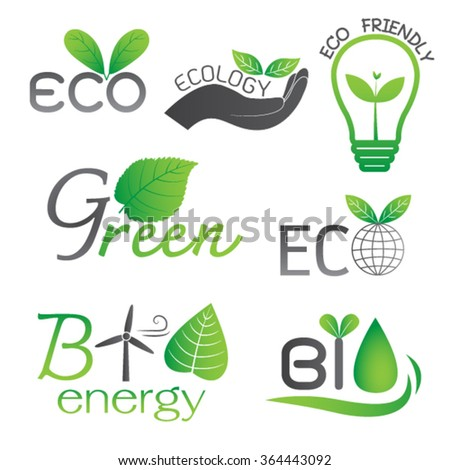 Ecology and Bio Energy Icons