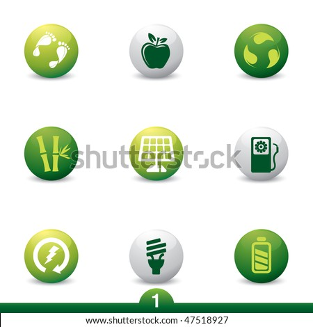 Ecology and energy icon series 1 - stock vector