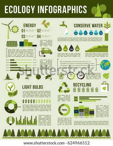 Ecology Environment Vector Infographics Graphs On Stock Photo Photo