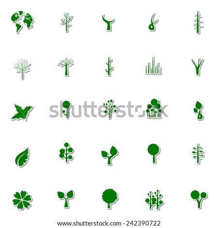 Ecology and Nature icon set 4 - stock vector