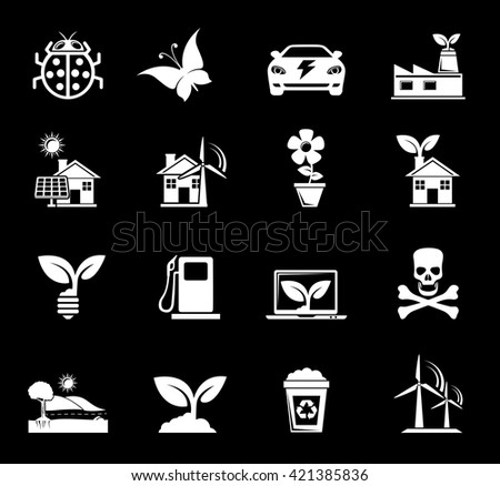 Ecology and Nature Icons - stock vector