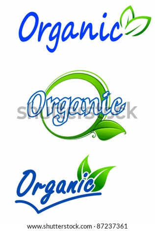 Ecology and nature symbols for food and environment design, such a logo. Rasterized version also available in gallery - stock vector