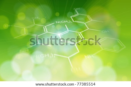 ecology background: chemical formulas - stock vector