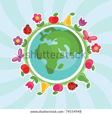 ecology background. vector illustration - stock vector