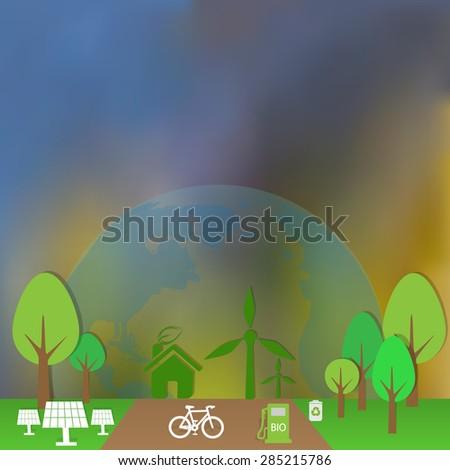 Ecology background. Vector illustration EPS 10 - stock vector
