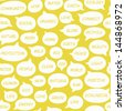Ecology background with speech bubbles. Seamless eco pattern. Fun texture with ecological terms. Vector illustration - stock vector
