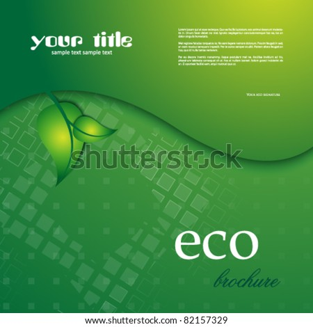 ecology banner /  brochure - stock vector