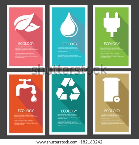 Ecology banner,Colorful version,vector - stock vector