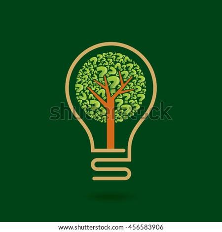 Ecology bulb light, a creative environmental idea. - stock vector