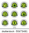 Ecology button series 1 - stock vector