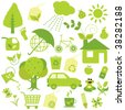 ecology collection - stock vector