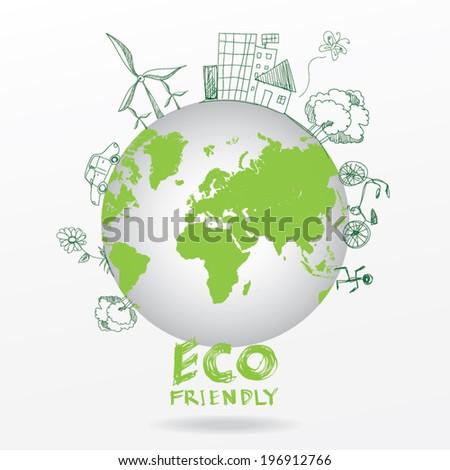 Ecology concept - stock vector
