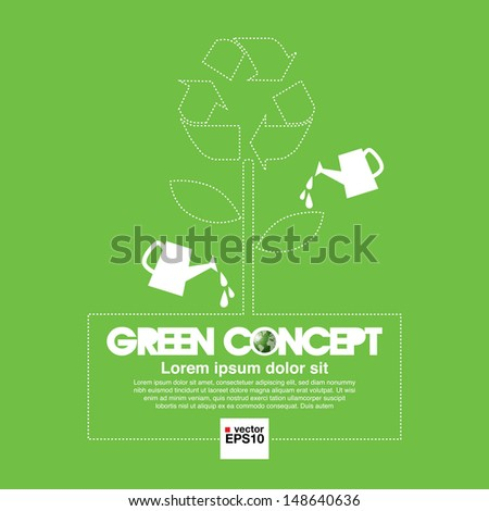 Ecology concept background vector. - stock vector