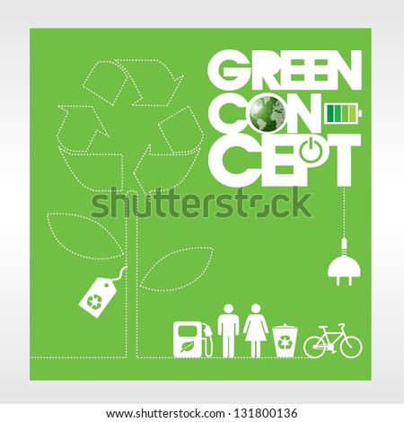 Ecology concept background vector.EPS10 - stock vector