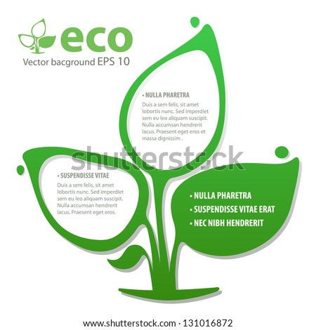 Ecology concept design, leafs. Vector illustration. - stock vector