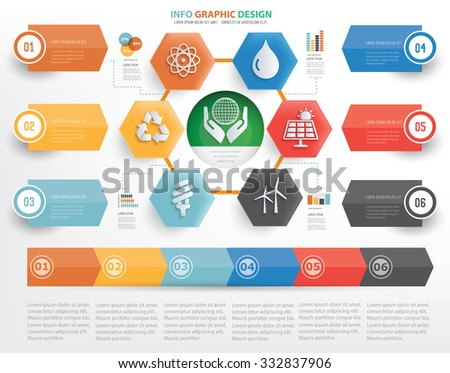 Ecology concept info graphic design on white background,vector - stock vector