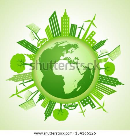 ecology concept - save earth stock vector - stock vector