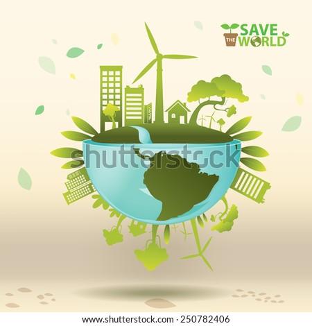 Ecology Concept Vector - stock vector