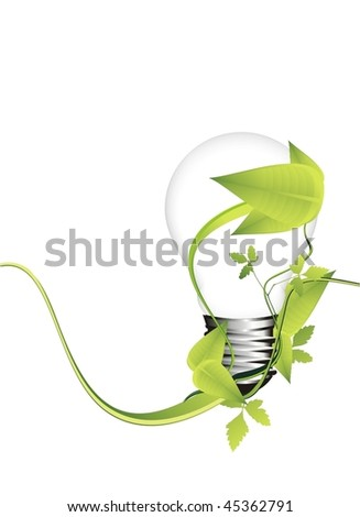 ecology concept with light bulb