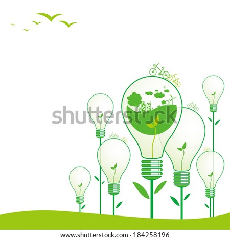 Ecology concepts - stock vector
