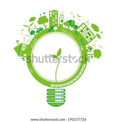 Ecology concepts design on white background - stock vector