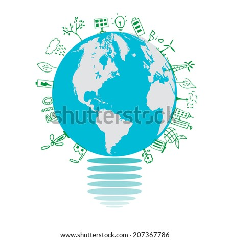 Ecology concepts design on white background