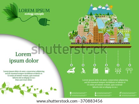 Ecology connection concept background .Vector  illustration