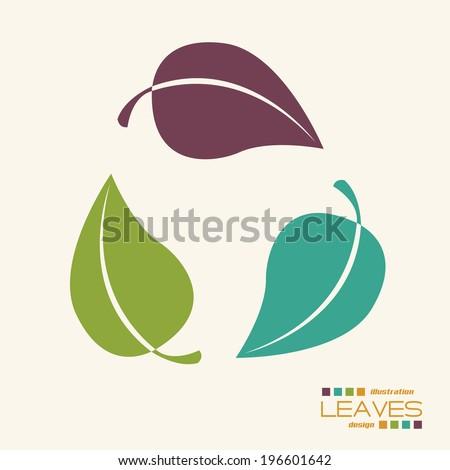 Ecology design over beige background, vector illustration - stock vector