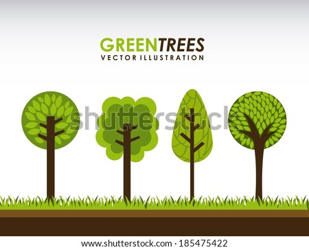 Ecology design over gray background, vector illustration - stock vector