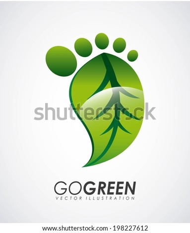 Ecology design over gray background, vector illustration