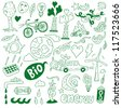 ecology - doodles collection , nature energy - stock photo