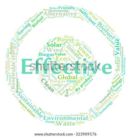 Ecology Earth concept word collage. Environmental poster design template  - stock vector
