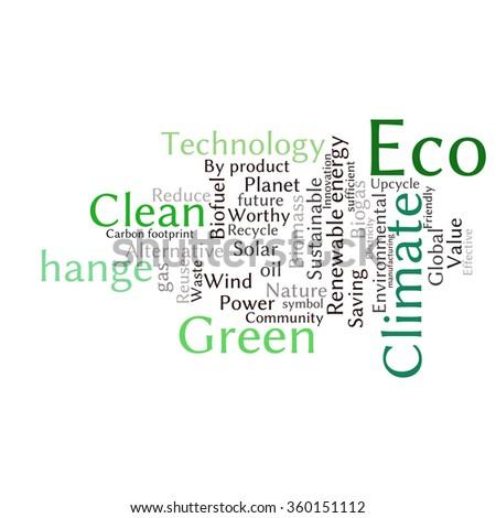 Ecology earth concept word collage environmental stock vector environmental poster design template maxwellsz