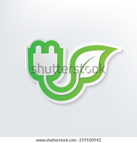 Ecology energy design on white background,clean vector - stock vector