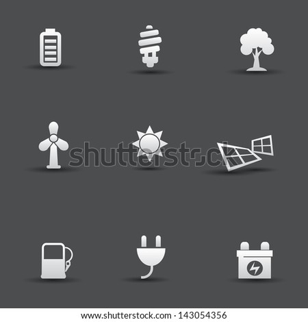 Ecology & Energy icons,vector - stock vector