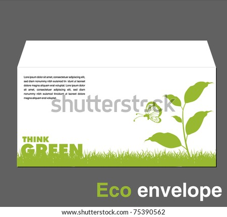 ecology envelope template - stock vector