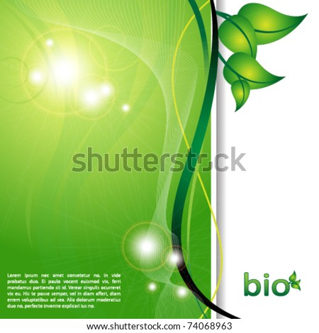 ecology green background - stock vector